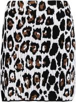 Sonia Rykiel Leopard-jacquard mini skirt