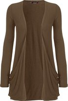 WearAll Women's Long Sleeve Pocket Cardigan - US 8-10 (UK 12-14)