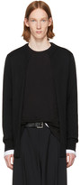 Comme des Garcons Black Layered Open Front Sweater