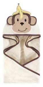 Hudson Baby Baby Vision One Size Unisex Baby Animal Face Hooded Towel, 1-Pack