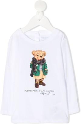 Ralph Lauren Kids Teddy Print Top