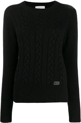 Blumarine Be Cable Knit Jumper