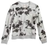 Girl's For All Seasons Floral Print Sweatshirt