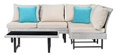 Safavieh Aleron Outdoor Sectional and Coffee Table Set (4 PC)