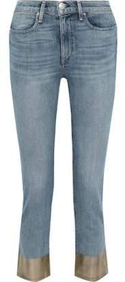 Rag & Bone Cropped Coated Mid-rise Slim-leg Jeans