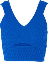 Jonathan Simkhai Cutout honeycomb stretch-knit top