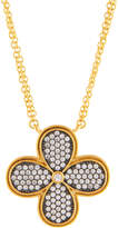 Freida Rothman Double-Strand Pave Crystal Clover Pendant Necklace