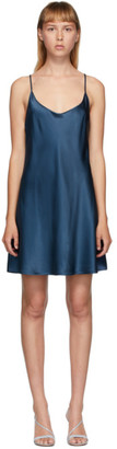 La Perla Navy Silk Slip Short Dress