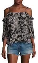 Ella Moss Ria Floral Cold Shoulder Top