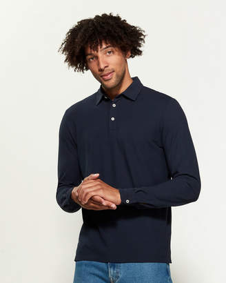 Altea Superfine Crepe Yarn Long Sleeve Polo