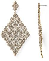 ABS by Allen Schwartz Stone and Mesh Drop Earrings