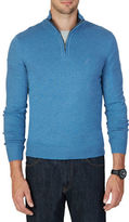Nautica Quarter-Zip Cotton Blend Sweater