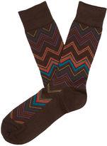 Perry Ellis Rhythm Chevron Sock