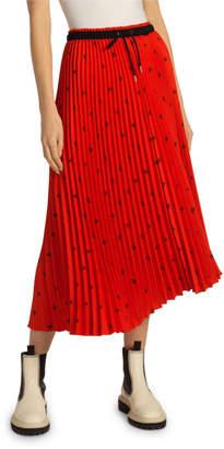 Proenza Schouler White Label Pleated Drawstring Midi Skirt