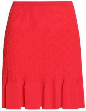 Sandro Gregoria Fluted Crochet-knit Mini Skirt