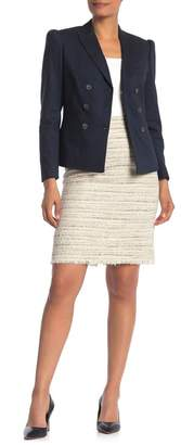 Rebecca Taylor TAILORED BY Vented Tweed Pencil Skirt