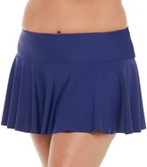Chaps Women's Hip Minimizing Ruffle Skirted Hipster Swim Bottoms