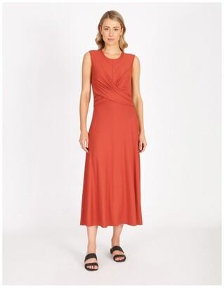 Basque Jersey Twist Dress