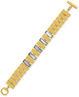 Vince Camuto Gold-Tone Linear Bar and Stone Linked Toggle Bracelet