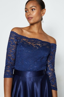 Coast Off the Shoulder 3/4 Sleeve Lace Body