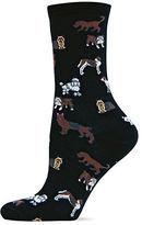 Hot Sox Dog Printed Trouser Socks