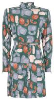 Miu Miu Printed long-sleeved dress