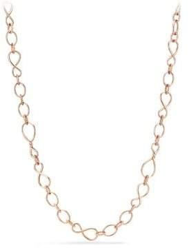 David Yurman Continuance Medium Chain Necklace In 18K Rose Gold