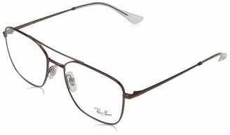 Ray-Ban Men's Rx6450 Square Metal Eyeglass Frames Prescription Eyewear