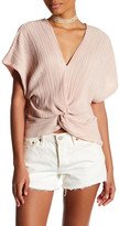 Willow & Clay Knot Front Pleated Shirt