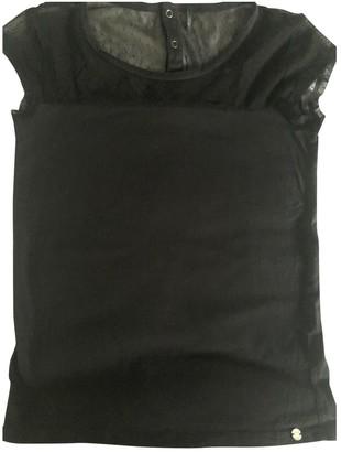 Ikks Black Cotton Top for Women