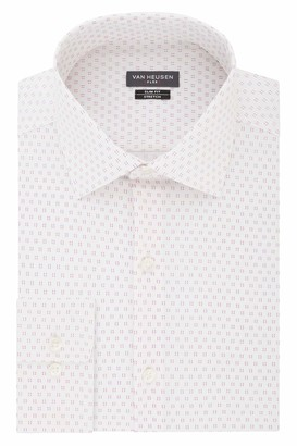 Van Heusen Men's Dress Shirt Flex Collar Stretch Slim Fit Print