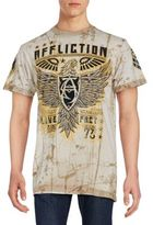 Affliction Printed Cotton Tee