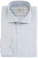 Canali Men's 2-Ply Cotton Check Dress Shirt