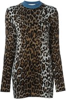 Stella McCartney cheetah crew neck jumper - women - Viscose/Wool/Polyimide - 40