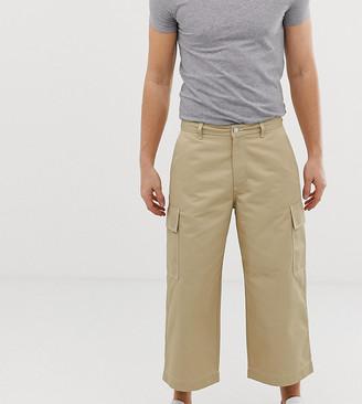Noak cargo trousers in technical fabric in stone