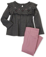 Hudson Infant Girls) Two-Piece Ruffle Top & Pants Set