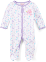 Sweet & Soft Purple Floral 'Beautiful' Footie - Infant