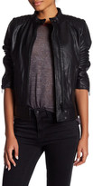 7 For All Mankind Genuine Leather Scuba Jacket