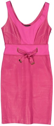 Versace Pink Leather Dresses