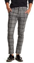 Topman Grey Check Stretch Skinny Chino Pant