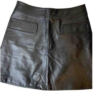 Whistles Black Leather Skirt for Women
