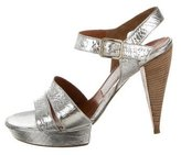 Lanvin Metallic Platform Sandals
