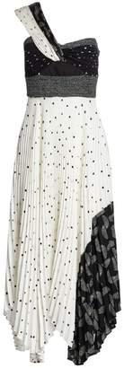 A.L.C. Aurora One-Shoulder Pleated Dress