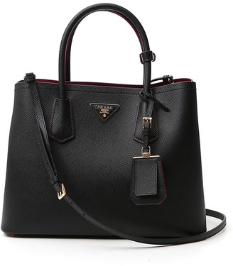 Prada Logo Top Handle Tote Bag