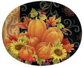 8ct Pumpkin Tapestry Oval Plates