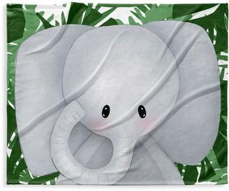 Kavka Baby's Elephant-Print Fleece Blanket