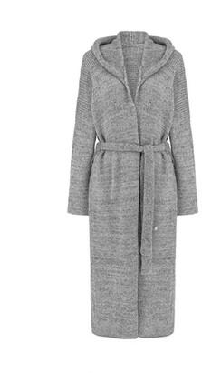 You By Tokarska Przystan Long Cardigan With A Hood Grey