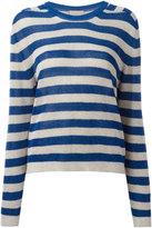 Laneus breton stripe sweater - women - Viscose/Polyamide/Polyester - 40