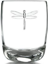 French Home La Rochère Glassware, Set of 6 Dragonfly Double Old-Fashioned Glasses