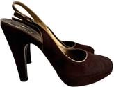 Prada Brown Suede Heels